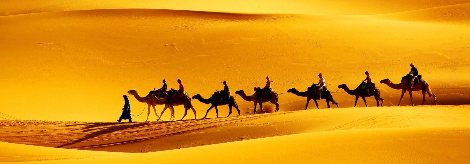Dune di sabbia di Erg Chebbi