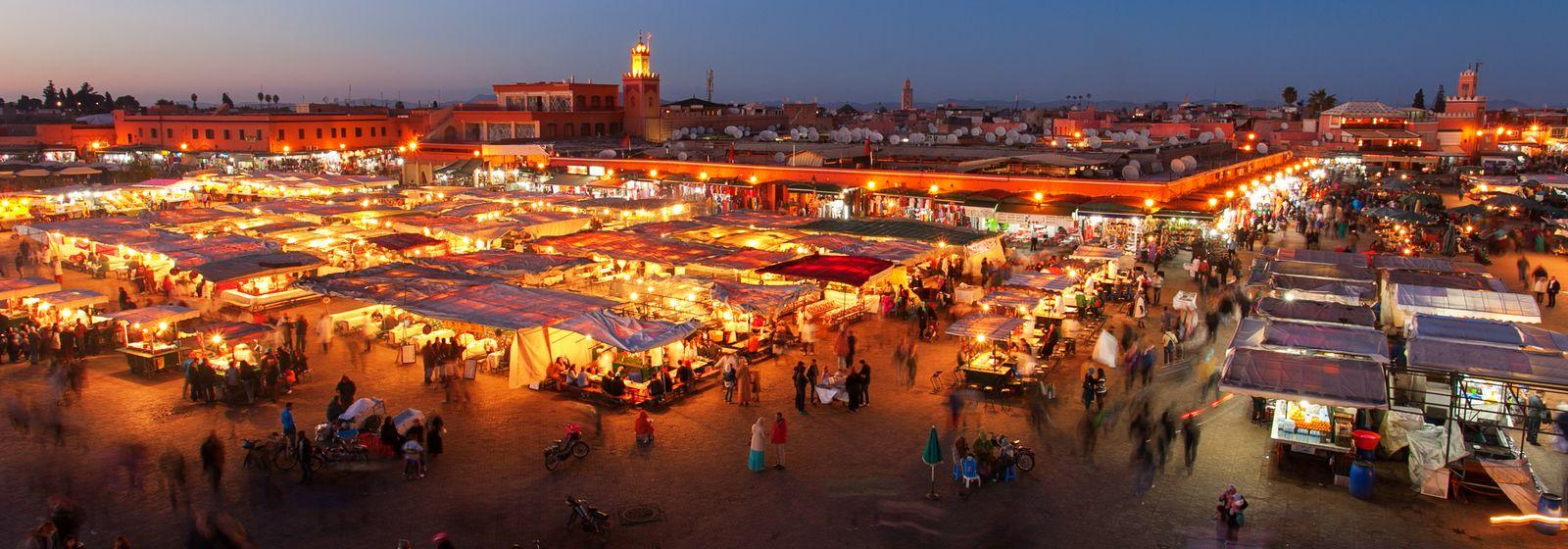 Jemaa El Fna Square by Night, Marrakech